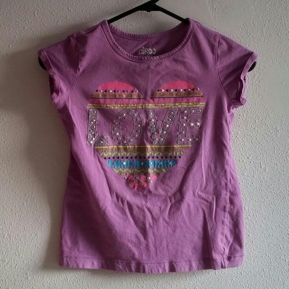 Easter Pink heart shirt Girls Circo size 4-8 NEW NWT
